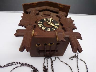 German Black Forest Cuckoo Parts Clock with Brass  Hubert Herr Movement D189