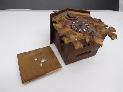 Regula German-made Black Forest Cuckoo Clock Case-only Parts Repair work e1075