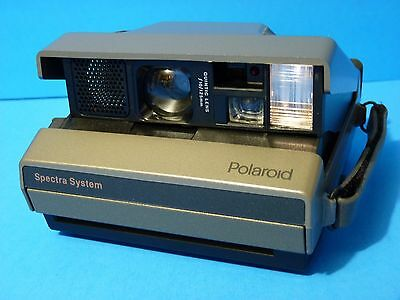 Vintage POLAROID SPECTRA SYSTEM Instant Camera w/Hand Strap Made in UK
