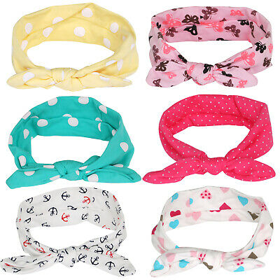 Pack of 6 Adorable Baby Girl and Toddler Headbands Unique Designs  - By TRIXES