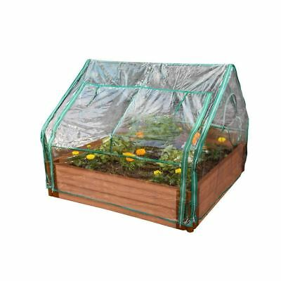Raised Garden Bed Greenhouse Cover 4 x 4 Ft. x 36 Inch. Extendable Tool-Free