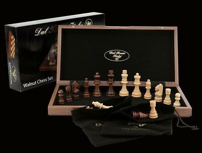 Folding Walnut Chess Set 30cm Dal Rossi Italy New High Quality Chess Set