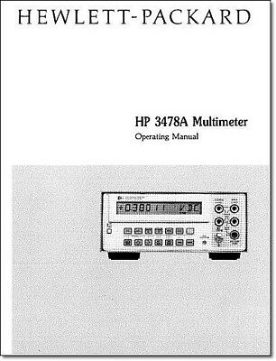 HP 3478A Operating Manual: Comb Bound & Protective Covers