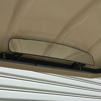 Curved Mirror For Golf Carts. Full Surround Rear Vision.brackets/screws Included