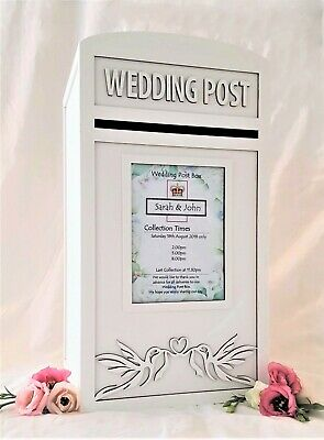 Large 'Lovebird' Wedding Card Post Box - Inc Free Personalised Royal Mail Sign