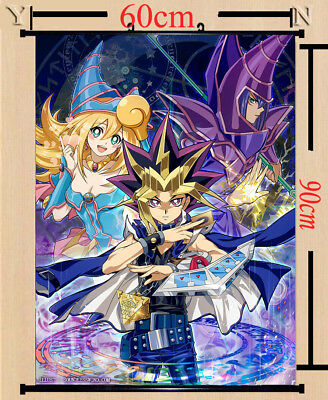 4144 Anime Yu-Gi-Oh Dark Magician Girl Home Decor Poster Wall Scroll cosplay A