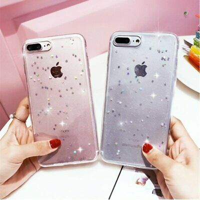 For Apple iPhone 5/6S/7/8 XS MAX Bling Glitter Sparkly Soft Gel Phone Cover Case