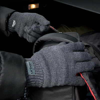 Mens & Womens Ladies Warm Classic Thinsulate Lined Gloves BLACK GREY or BLUE