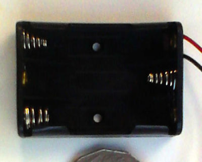 AAA Battery Holder for 3 batteries with fly leads. FREE POSTAGE