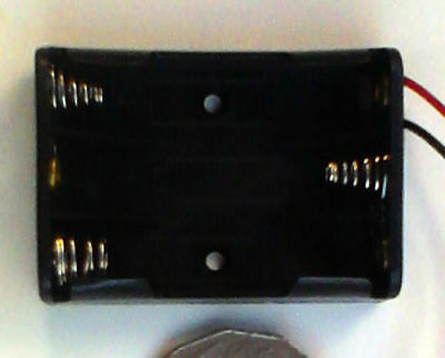 Battery Holder for 3 AAA batteries with fly leads.