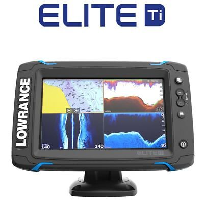 Lowrance Elite 7 Ti Touch mit Total Scan Heckgeber