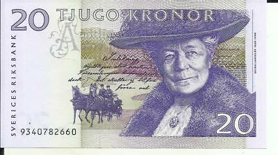 Sweden 20 Kronor 1997  P 63. Unc Condition. 6Rw 07Mar