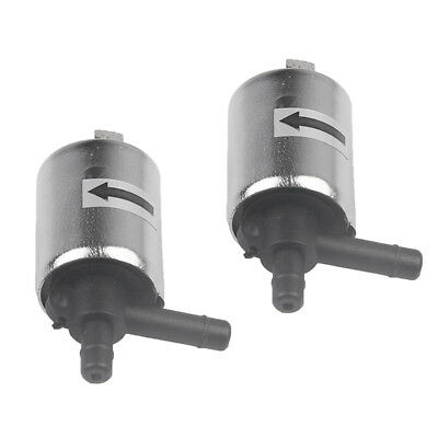 2Pcs DC 12V 6.3mm Electric Solenoid Valve Normally Closed N/C Water Gas Air