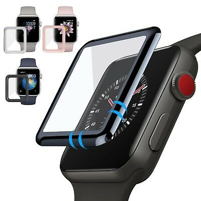 For Apple Watch Series 3 3D Full Edge 9H Tempered Glass Screen Protector 38/42mm