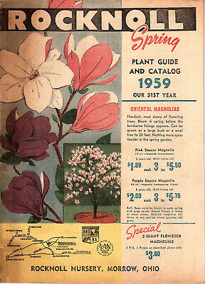 1959 Catalog Rocknoll Nursery Morrow Ohio Flowers Shrubs Fruit Trees Plants