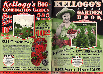 Flowers Fruit Trees Plants Kellogg's 1933 Catalog R M Kellogg Co Three Rivers MI