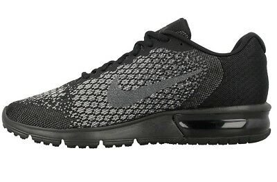 86a14a408611eb Nike Air Max Sequent 2 Mens Size Running Shoe Triple Black Sneakers 852461  001