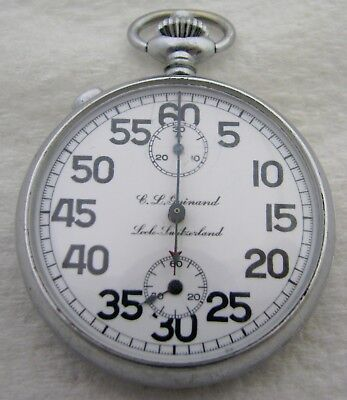 Antique Swiss Cl Guinand Split Second Locle Timer Pocket Watch