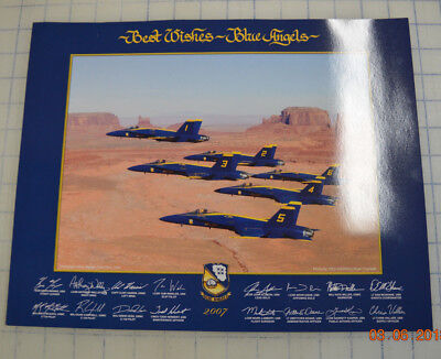2007 US NAVY BLUE ANGELS 11x14 PRINT LITHO Authentic - Monument Valley Utah