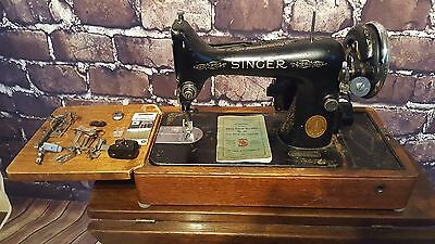 Antique 1920'S 1930'S Singer 99K Heavy Duty Electric Sewing Machine Attachments