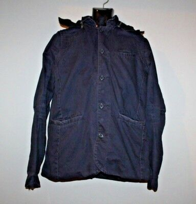 Nice Collective Mens Washed Military Style Jacket Hooded USA Size XL