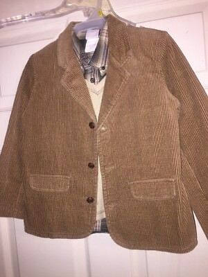 Nwt Boys 3 Piece Suit Shirt Vest Jacket Easter Good Lad Sz 5