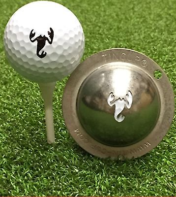 1 only TIN CUP GOLF BALL MARKER - THE SCORPION  EASY TO DO