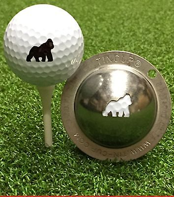 1 only TIN CUP GOLF BALL MARKER - GORILLA  EASY TO DO