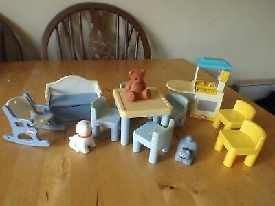 Little Tikes Dolls House Play Room Furniture Items And Pet Figures