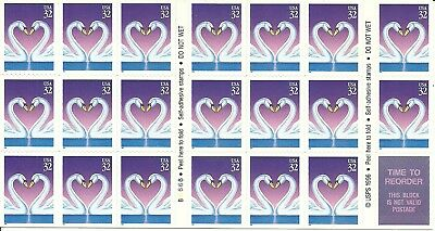 USA  Booklet Pane of 20x 32c: Self-adhesive Stamps: 1997: Unfolded: Mint