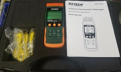 Extech Four Channel Thermometer SD Datalogger SDL200