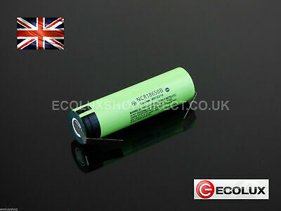 Panasonic NCR18650B 3400mAh 3.7v Lithium Li-Ion Battery Tabs Tags Tagged UK