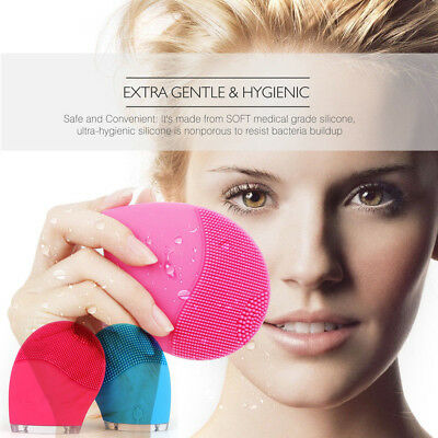sonic Facial Cleansing Brush,Cleanser & Massager Silicon Vibrating Waterproof