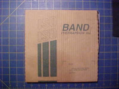 """ISO Band-it BA204 Stainless Steel Band Strap  1/2"""" x .030"""" x 100 feet Coil"""