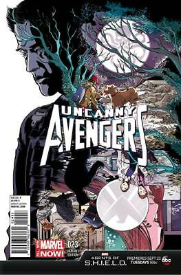 Uncanny Avengers #23 Marvel Comic 2014 Emma Rios Variant Cover Agents of Shield