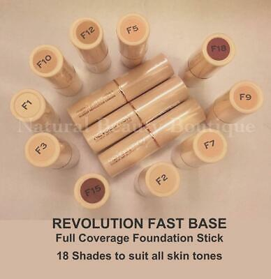 MAKEUP REVOLUTION Full Coverage FAST BASE FOUNDATION Stick 18 Shades F1 F2 F3 F4