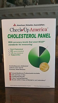 Check Up America Cholesterol Panel, NEW & SEALED EXP.04/2018 FRESH!