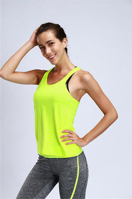Breathable Womens Sports Vest Sleeveless Running Yoga Fitness Shirt Quick Drying