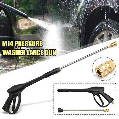 3000PSI High Pressure Washer Water Lance Gun Cleaner Extension Wand Rod M14 Kit