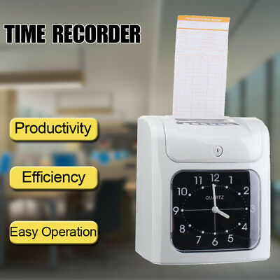 Electronic Employee Time Attendance Bundy Time Clock Recorder + 50PCS Timecards