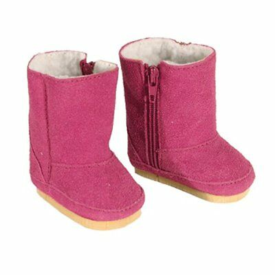Hot Pink  Suede boots  Fits 18 inch American Girl Dolls