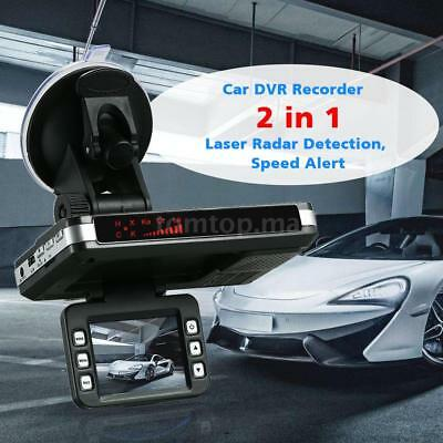 2In1 Car Dash Camera DVR Recorder+Radar Laser Speed Detector G-Sensor Alert O8G8