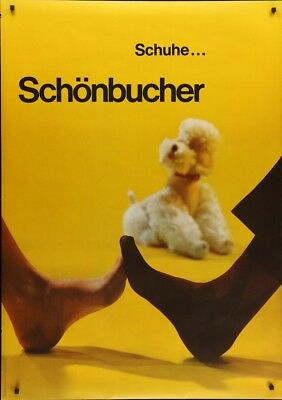 SCHONBUSCHER Shoes Vintage 1962 advertising poster 36x51 RARE NM