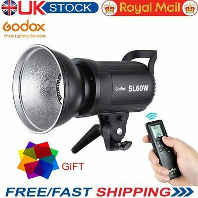 UK Godox SL-60W 5600K Studio LED Video Light Continuous Light + Remote Control