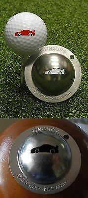 1 only TIN CUP GOLF BALL MARKER -DRIVE FOR SHOW CAR - EASY TO DO