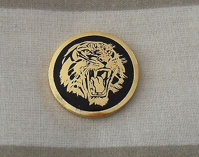1  only GOLDEN TIGER  GOLF BALL MARKER - Very Nice