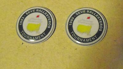 2 Only Seve Ballesteros  Us Masters 1980 & 1983 Tribute Golf Ball Markers