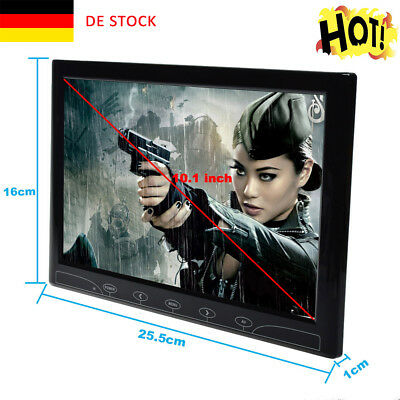 10.1 Zoll  Ultrathin HD Color CCTV Monitor Touch Screen AV/VGA/HDMI Speaker DE
