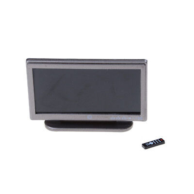 1:12 Doll House Miniature Widescreen Flat Panel LCD TV Remote Gray Home Decor