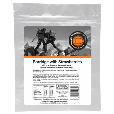 Porridge with Strawberries - Regular Serving 450 kcal - Expedition Foods